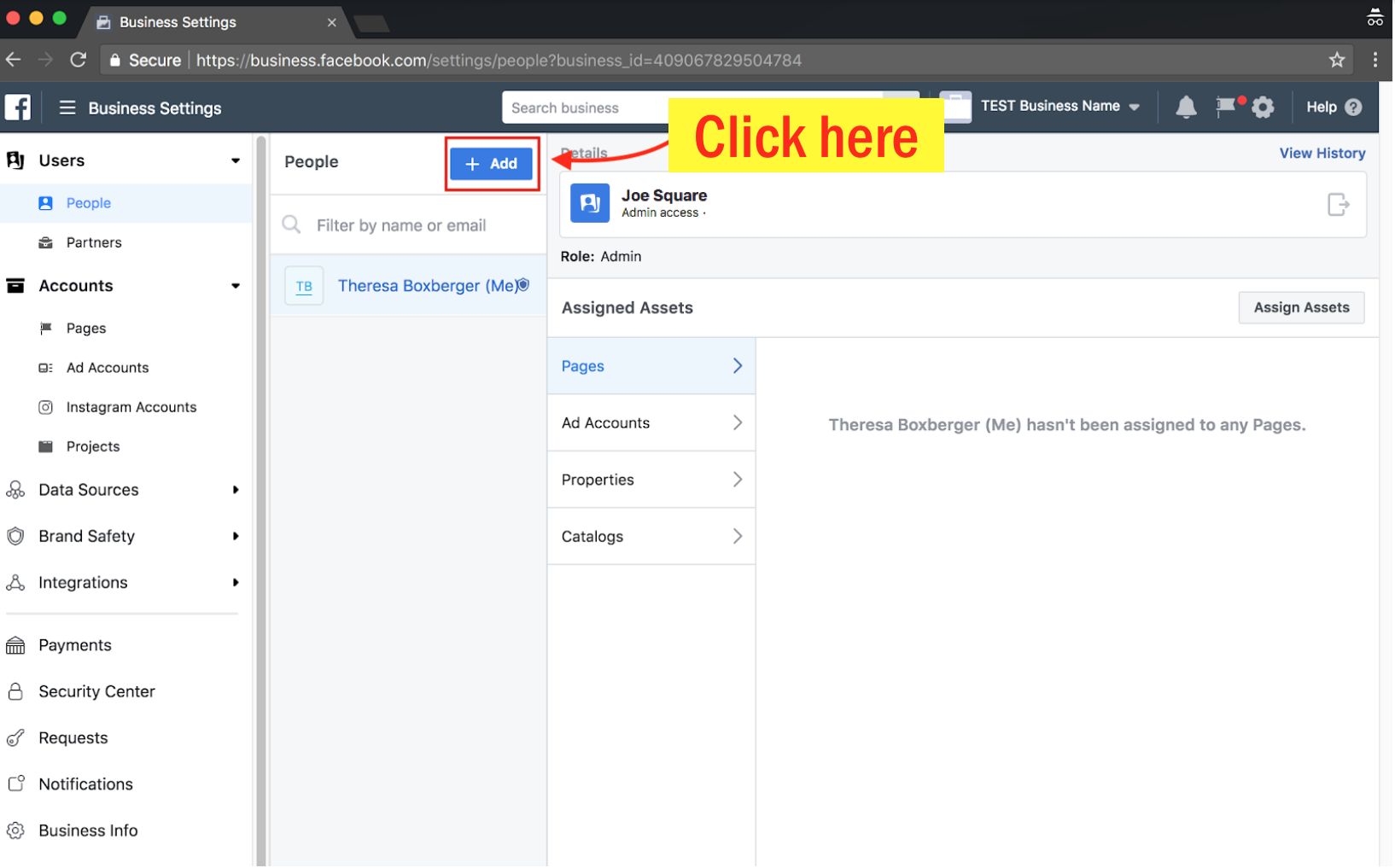 Add an Admin to Your Facebook Ad Account - Step 4 Screenshot