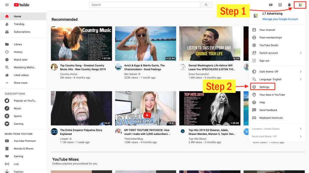 step 1-add a youtube user
